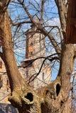 Het Kasteel vroeger Kynsburg van Grodno in Zagorze Slaskie, Polen royalty-vrije stock afbeelding