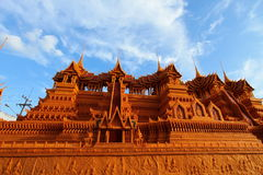 Het kasteel wordt gemaakt ââof tot was Stock Afbeeldingen