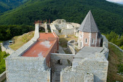 Het kasteel Zagreb van Medvedgrad Stock Afbeeldingen