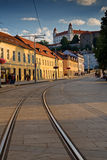 Het kasteelavond van Bratislava royalty-vrije stock afbeelding