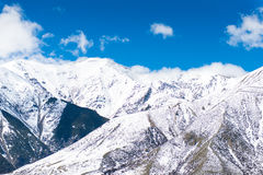 Het Kasteelheuvel van de sneeuwtop, Nieuw Zeeland stock foto's