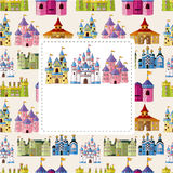 Het kasteelkaart van het beeldverhaal Royalty-vrije Stock Fotografie