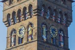 Het KasteelKlokketoren van Cardiff stock afbeeldingen