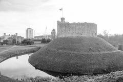 Het Kasteelmening van Cardiff stock foto