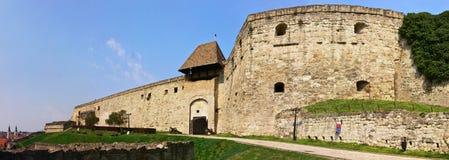 Het kasteelpanorama 1 van Eger Stock Afbeelding