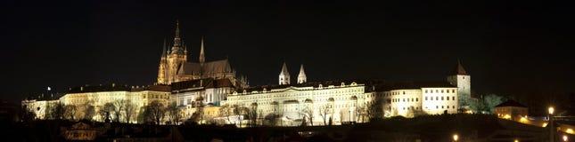 Het kasteelpanorama van Praag Stock Afbeelding
