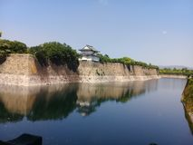 Het kasteelpark van Osaka royalty-vrije stock foto's