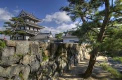 Het kasteelpark van Takamatsu, Japan stock fotografie