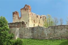 Het kasteelruïnes van de Orde van Livonian Stock Afbeelding