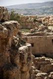 Het kasteelruïnes van Herodium Stock Foto's