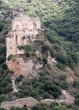Het kasteelruïnes van kruisvaarders in Galilee stock afbeeldingen