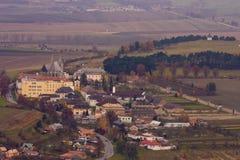 Het kasteelstad van Spis stock fotografie