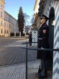 Het kasteelwacht van Praag Royalty-vrije Stock Foto