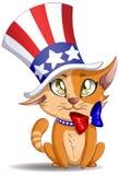 Het Katje van de Dag van de onafhankelijkheid Stock Foto
