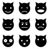 Het katje ziet emotioneel onder ogen Stock Foto's