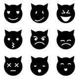 Het katje ziet emotioneel onder ogen Royalty-vrije Stock Foto's
