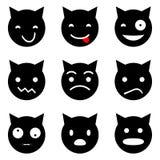 Het katje ziet emotioneel onder ogen Royalty-vrije Stock Afbeeldingen