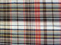 Het Katoen van de stoffenplaid van kleurrijke achtergrond en abstracte textuur Royalty-vrije Stock Foto