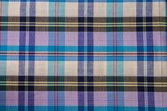 Het Katoen van de stoffenplaid van kleurrijke achtergrond en abstracte textuur Royalty-vrije Stock Afbeeldingen