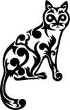 Het kattenornament Stock Foto