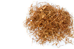 Het kauwen tabak op witte achtergrond Royalty-vrije Stock Afbeelding