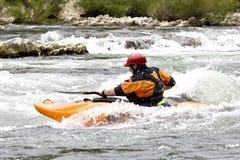 Het kayaking van Whitewater royalty-vrije stock foto's