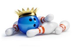 Het kegelen van de koning royalty-vrije illustratie