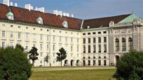Het KeizerPaleis van Hofburg in Wenen stock footage