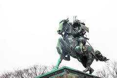 Het Keizerpaleis van Tokyo | Het standbeeld van oriëntatiepuntsamoeraien in Japan op 31 Maart, 2017 Royalty-vrije Stock Afbeelding