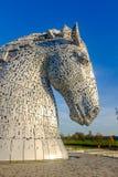 Het Kelpies-beeldhouwwerk door Andy Scott, Falkirk, Schotland Royalty-vrije Stock Foto's