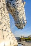 Het Kelpies-beeldhouwwerk door Andy Scott, Falkirk, Schotland Stock Fotografie