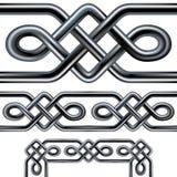 Het Keltische ontwerp van de kabel naadloze grens met hoek ele Stock Foto