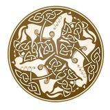 Het Keltische symbool van Epona Stock Foto's