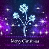 Het kenmerken van de nieuwe achtergrond van het Kerstmisconcept met sneeuwvlokken Royalty-vrije Stock Afbeelding