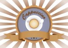 Het kenteken van cappuccino's royalty-vrije illustratie