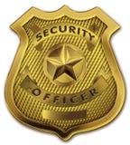Het Kenteken van de Ambtenaar van de veiligheidsagent Stock Afbeeldingen