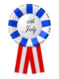 Het kenteken van de Dag van de onafhankelijkheid op de witte achtergrond Royalty-vrije Stock Foto