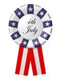 Het kenteken van de Dag van de onafhankelijkheid op de witte achtergrond Stock Afbeelding