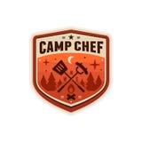 Het kenteken van de kampchef-kok stock foto's