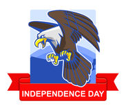 Het kenteken van de onafhankelijkheidsdag Stock Foto's