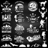 Het kenteken van de wandelingsclub royalty-vrije illustratie