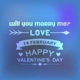 Het Kenteken Vectormalplaatje van de valentijnskaartendag Vector Illustratie