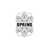 Het kentekenontwerp van de de lenteverkoop Sticker, zegel, met de hand gemaakt embleem - Met het gebruik van typografieelementen, vector illustratie