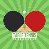 Het kentekenontwerp van pingpongtoernooien Ping Pong-kampioenschap royalty-vrije illustratie