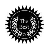 Het kentekenpictogram van de winnaartoekenning, zwarte eenvoudige stijl Stock Foto