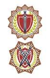 Het kentekenster van het veiligheidssymbool stock illustratie