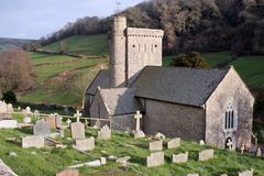 Het kerkhof van de kerk Royalty-vrije Stock Afbeeldingen