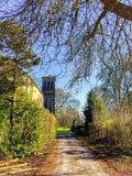 Het Kerkhof van het land Stock Foto's