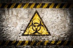 Het kernsymbool van de stralingswaarschuwing Stock Foto
