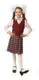 Het kersenmeisje in een eenvormige school stock afbeelding